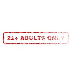 21 plus adults only rubber stamp vector image vector image