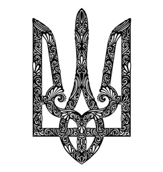 Decorative ukrainian trident vector