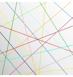 Abstract color dot lines background vector