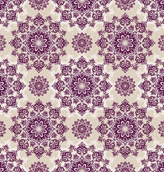 Seamless baroque damask luxury background vector