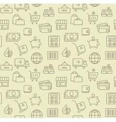 Shopping icons seamless background pattern vector