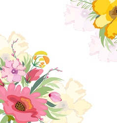 Watercolor flowers lily background vector