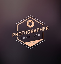 Photography logo design template retro badge or vector