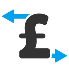 Pound payouts flat icon symbol vector