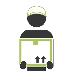 Deliverman silhouette delivery design vector