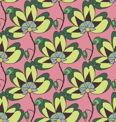 Bright summer floral seamless pattern vector image