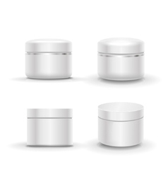 Blank cosmetic package container for cream vector