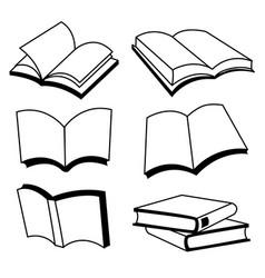 Book line icon design vector