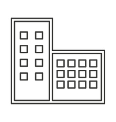 building construction isolated icon vector image vector image