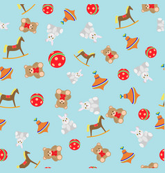 Children pattern with toys vector