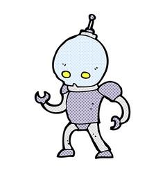 comic cartoon alien robot vector image