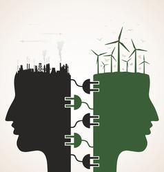 Energy head vector image vector image