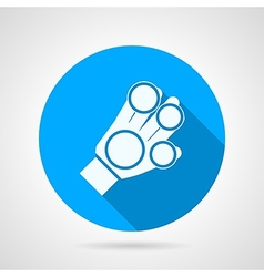 Flat icon for sport glove vector image