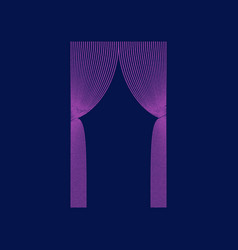 Flat shading style icon curtains vector