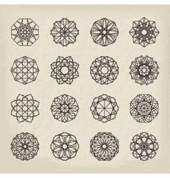 Geometric Vintage Ornaments Set vector image vector image