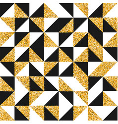 gold glitter abstract retro art seamless pattern vector image