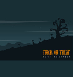 Grave scary landscape for halloween day vector