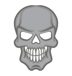 Halloween cartoon scull isolated on white vector