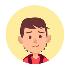 happy kid with serious facial expression vector image