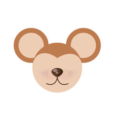 Head cute mouse animal image vector