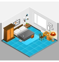 Home Interior Isometric vector image