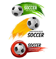 Icons for soccer club football championship vector