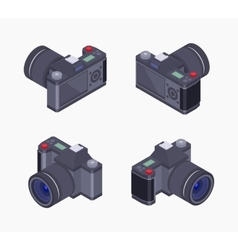 Isometric digital photo camera vector image