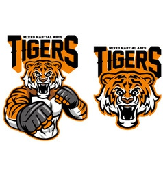 MMA fighter tiger vector image vector image