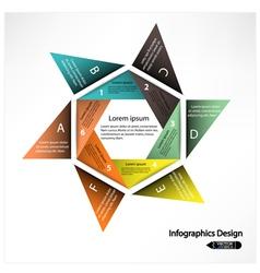Modern presentation template vector image vector image