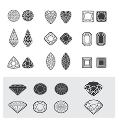 new diamonds set 01 vector image vector image
