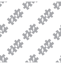New Love puzzle seamless pattern vector image vector image