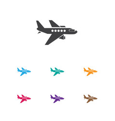 of trip symbol on aircraft vector image