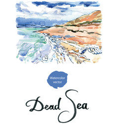 Salt formations dead sea israel vector