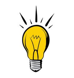 shining light bulb icon cartoon vector image