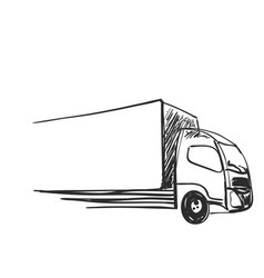 Sketch logistics and delivery poster vector