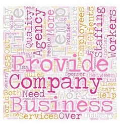 Temp agency companies text background wordcloud vector