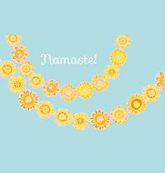Traditional indian decorative marigold vector