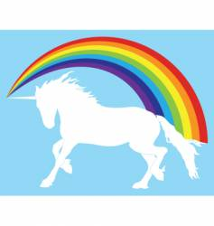unicorn with rainbow vector image vector image