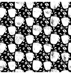 Seamless pattern for coffee themed coffee cup and vector
