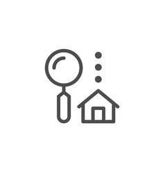 house search line icon vector image