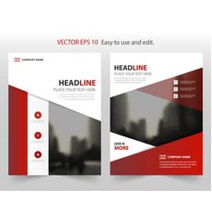 Red black abstract annual report brochure design vector