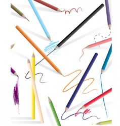 Drawing pencils vector