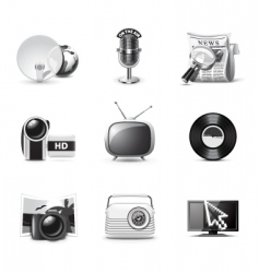 Media icons | bw series vector