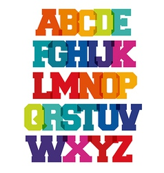 Bright spectrum alphabet vector