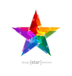 Abstract star overlying star shapes on white vector