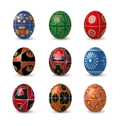 Set of color easter eggs vector