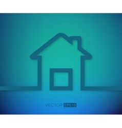 Abstract creative concept house for web and vector