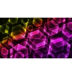 Hexagon digital technology colorful background vector