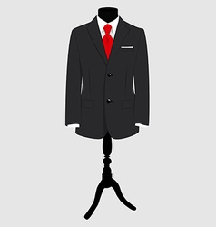 Suit on mannequin vector