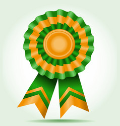 Award a star two color green and orange vector
